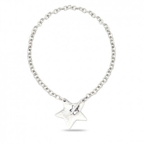 Danon Jewellery Silver Large Star Chunky Necklace