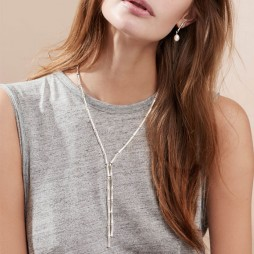 Hultquist Jewellery Silver Bamboo Necklace