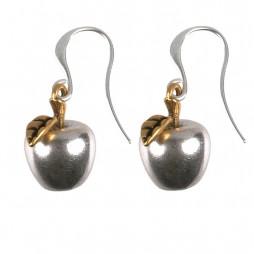 Hultquist Jewellery Silver Apple Gold Leaf Earrings