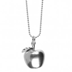 Hultquist Jewellery Silver Apple Pendant Long Necklace