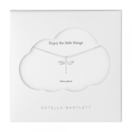 Estella Bartlett Silver Plated Dragonfly Necklace