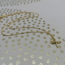 Estella Bartlett Gold Plated Dragonfly Necklace