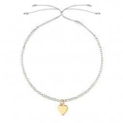 Estella Bartlett Louise Bracelet Silver Plated with Gold Heart Charm
