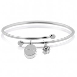 Joma Jewellery Silver Story Happiness Bangle 1616