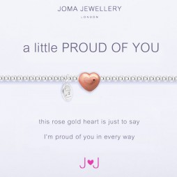 Joma Jewellery a little Proud of You Silver Rose Gold Heart Bracelet 1657