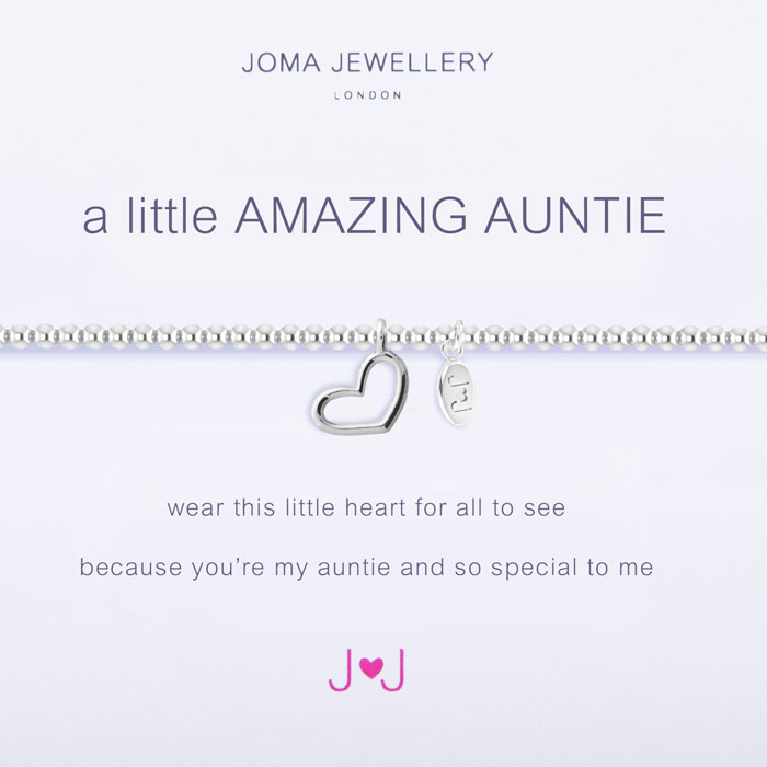 Heart You Re Amazing: Joma Jewellery A Little Amazing Auntie Silver Heart