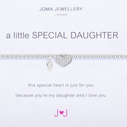 Joma Jewellery a little Special Daughter Silver Heart Bracelet 1663