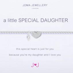 Joma Jewellery a little Special Daughter Silver Heart Bracelet