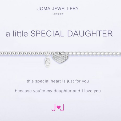 Joma Jewellery a little Special Daughter Silver Heart Bracelet