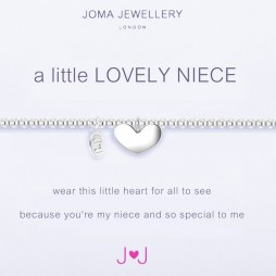 Joma Jewellery a little Lovely Niece Silver Heart Bracelet