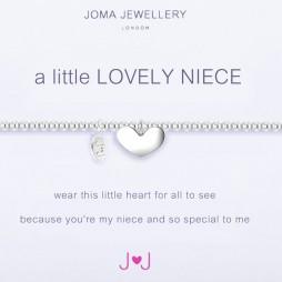 Joma Jewellery a little Lovely Niece Silver Heart Bracelet
