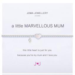 Joma Jewellery a little Marvelous Mum Pearl Heart Silver Bracelet
