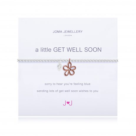Joma Jewellery a little Get Well Soon Silver Rose Gold Flower Bracelet 1660 EOL