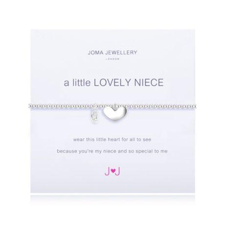 Joma Jewellery a little Lovely Niece Silver Heart Bracelet 1664