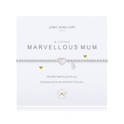 Joma Jewellery a little Marvellous Mum Heart Silver Bracelet 1675