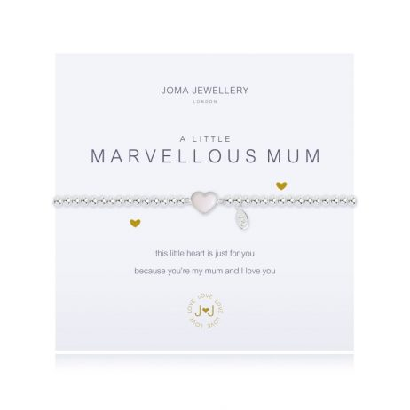 Joma Jewellery a little Marvellous Mum Heart Silver Bracelet 1675