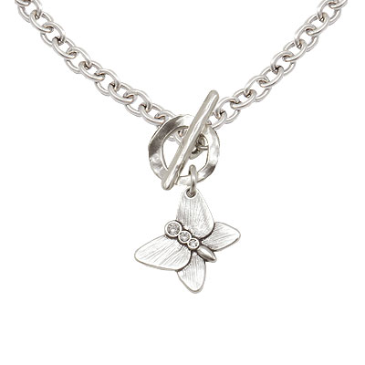 Danon Jewellery Silver Plated Butterfly Chunky Necklace