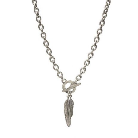 Danon Jewellery Silver Plated Feathers Chunky Necklace