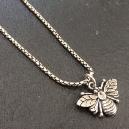 Danon Silver Plated Bee Necklace with Crystal