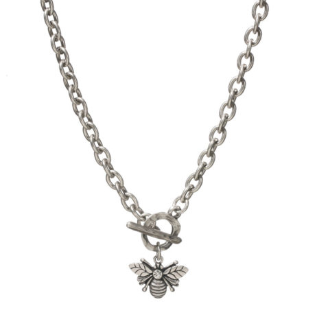 Danon Jewellery Silver Plated Bumble Bee Chunky Necklace