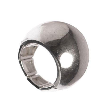 Hot Tomato Jewellery Silver Chunky Luna Ring