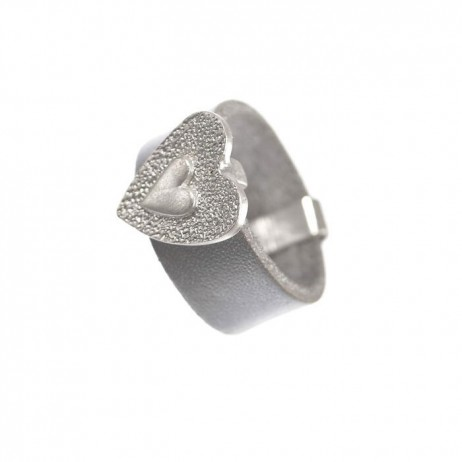 Hot Tomato Jewellery Silver Heart Ring