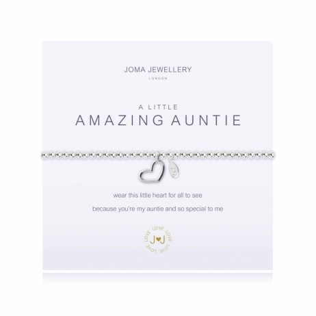 Joma Jewellery a little Amazing Auntie Silver Heart Bracelet 1662