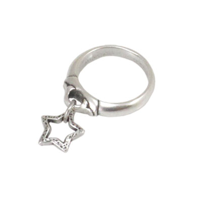 Danon Jewellery Silver Star Charm Ring