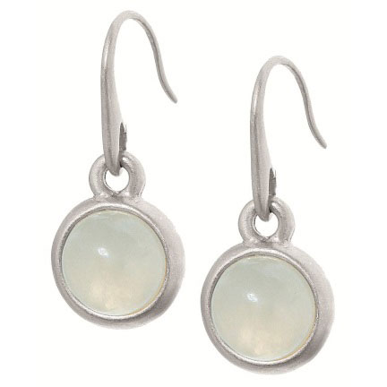 Sence Copenhagen Signature Aquamarine Worn Silver Earrings