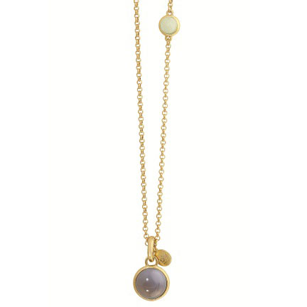 Sence Copenhagen Signature Long Gold Necklace with Multi Stone