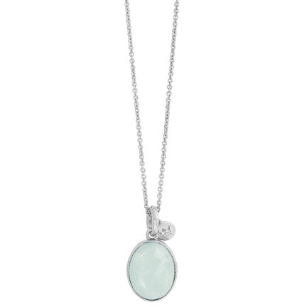 Sence Copenhagen Aquamarine Silver Necklace