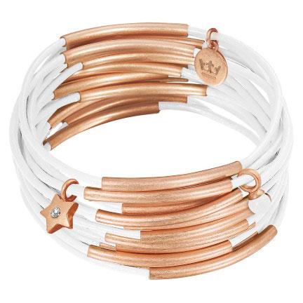 Sence Copenhagen Rose Gold with White Urban Gipsy Bracelet - EOL