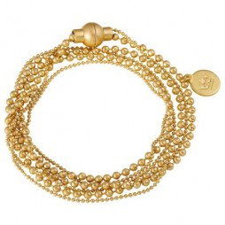 Sence Copenhagen Worn Gold Hippie Bracelet Necklace