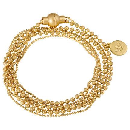 Sence Copenhagen Worn Gold Hippie Bracelet Necklace