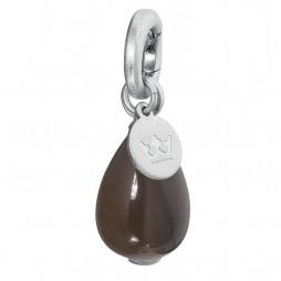 Sence Copenhagen Grey Agate Drop Charm Silver Pendant