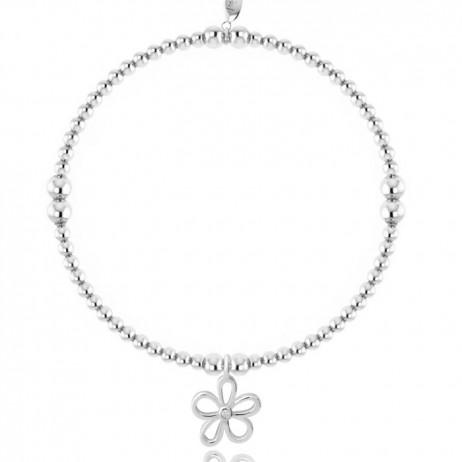 Joma Jewellery Daisy Daze Silver Bracelet 1568