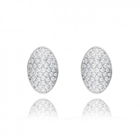 Joma Jewellery Silver Ora Pave Earrings