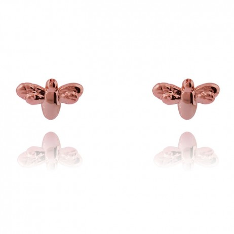 Joma Jewellery Rose Gold Flutterby Bee Earrings