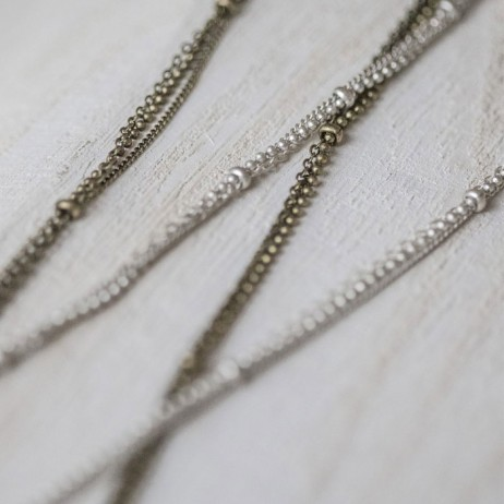 Tutti and Co Long Silver Chain Necklace