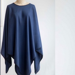 Tutti and Co Soft Touch Navy Blue Poncho