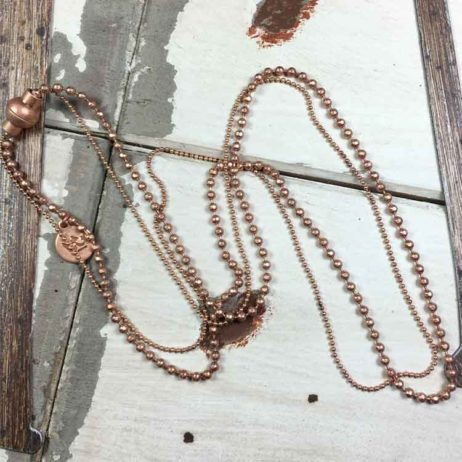 Sence Copenhagen Rose Gold Hippie Bracelet and Necklace