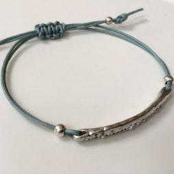 Hultquist Jewellery Silver Sea Pod Macrame Cotton Cord Bracelet