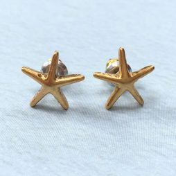 Hultquist Gold Starfish Earrings