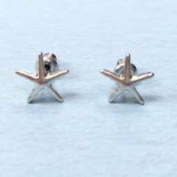 Hultquist Silver Starfish Earrings