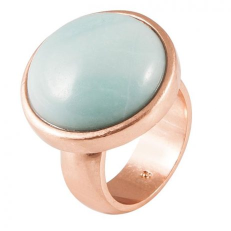 SENCE Copenhagen Amazonite Rose Gold Ring