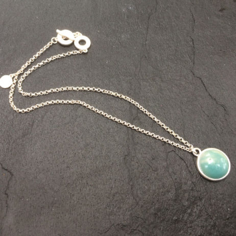 Sence Copenhagen Amazonite Silver Necklace