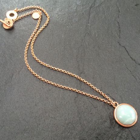 Sence Copenhagen Amazonite Rose Gold Necklace