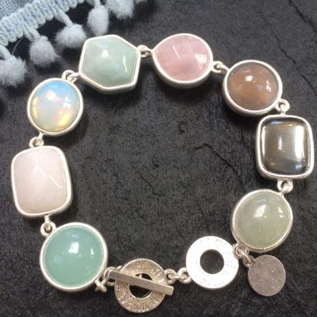 SENCE Copenhagen Multi Stone Silver Bracelet