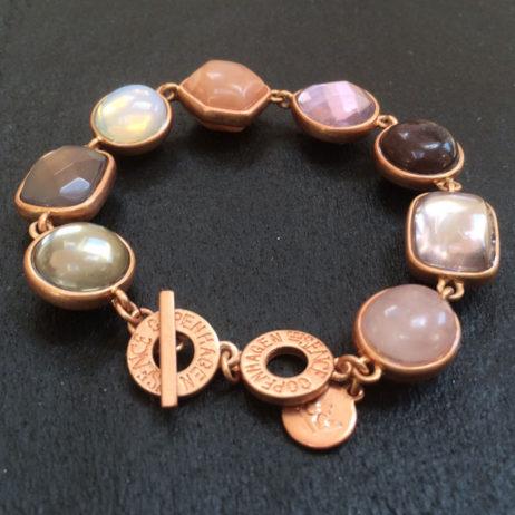 Sence Copenhagen Multi Stone Rose Gold Bracelet