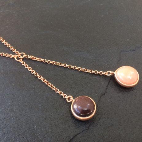 Sence Copenhagen Aventurine Rose Gold Necklace